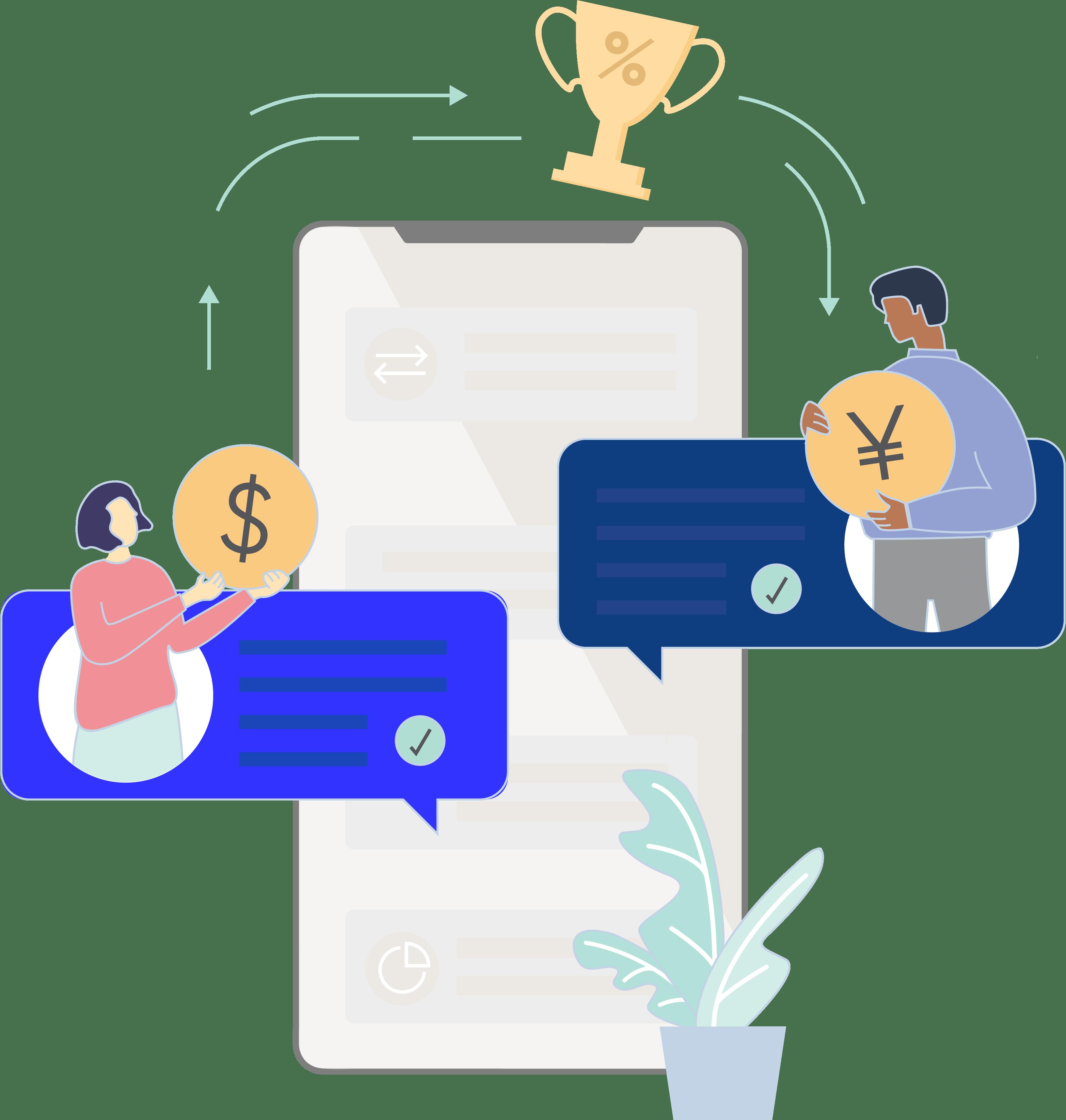 Kostenlos, instant Zahlungen weltweit