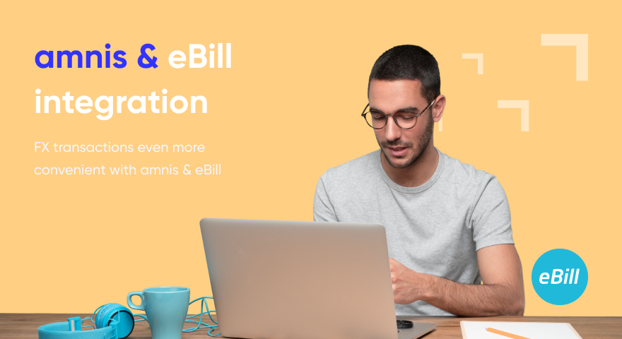 Foreign exchange transactions with ebill
